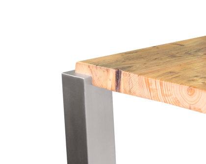 Tischbein edelstahl tbe quadratrohr eingelassen tischfu versen for Wohnzimmertisch edelstahl