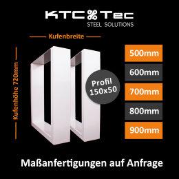 Tischgestell Stahl weiss Serie-TUGw Tischuntergestell...