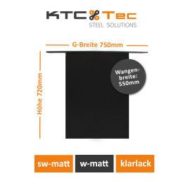 Stahlwange SWG55-s Tischuntergestell Tischgestell gerade schwarz matt (1 Stück)