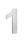 Hausnummer 1 Edelstahl V2A rostfrei 150mm
