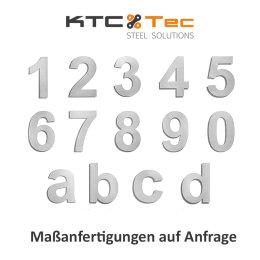 Hausnummer 2 Edelstahl V2A rostfrei 150mm
