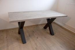 Tischgestell Stahl schwarz matt TUX 100x100 500 Tischkufe Kreuz X-Gestell Tischuntergestell 2 Stk