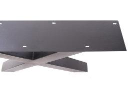 Tischgestell Stahl schwarz matt TUX 100x100 600 Tischkufe Kreuz X-Gestell Tischuntergestell 2 Stk