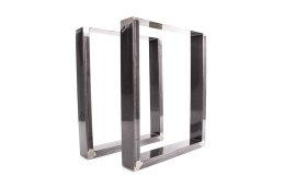 Tischgestell Rohstahl TU100k-500 breit Tischuntergestell Tischkufe Kufengestell (1 Paar)
