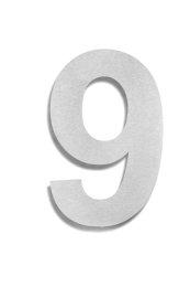 Hausnummer 9 Edelstahl V2A rostfrei 150mm