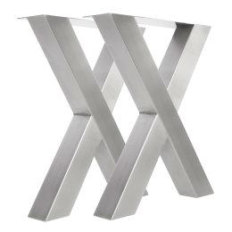 Tischgestell Edelstahl TUX 100x100 500-900 mm Kufen Tischuntergestell Tischkufe