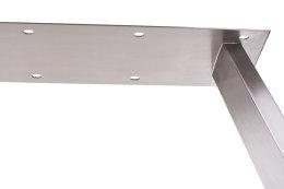 Tischgestell Edelstahl TU 100x40 Trapez 800 Untergestell Tischuntergestell 2 Stk