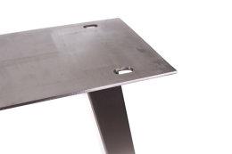 Tischgestell Edelstahl TU 100x40 Trapez 700 Untergestell Tischuntergestell 2 Stk