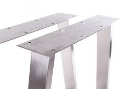 Tischgestell Edelstahl TU 100x40 Trapez 500-900 mm Tischuntergestell Tischkufe