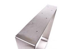 Tischgestell Edelstahl TGF 100x10 700 Untergestell Tischuntergestell, 2 Stk
