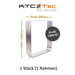 Tischgestell Edelstahl TGF 100x10 700 Untergestell...