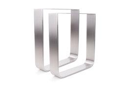 Tischgestell Edelstahl TGF 100x10 800 Untergestell Tischuntergestell, 2 Stk