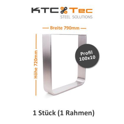 Tischgestell Edelstahl TGF 100x10 800 Untergestell Tischuntergestell, 1 Stk