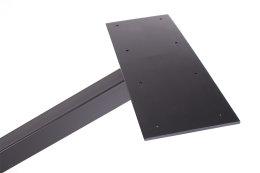 Kreuzgestell Stahl schwarz matt GX80x80 L1600...