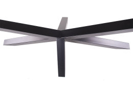 Kreuzgestell Stahl schwarz matt GX80x80 L1600 Tischgestell Küchentisch Esstisch Tischuntergestell X-Gestell