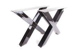 Tischgestell Rohstahl klarlack TUXk-590 breit Tischuntergestell Tischkufe Kufengestell (1 Paar)