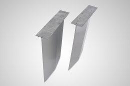 Edelstahlwange Raute Edelstahl - Tischgestell Esstisch Schreibtisch Wangen massiv Tischkufen Stahlwangen Industrie (1 Paar)