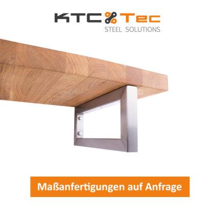Waschbecken Konsole Edelstahl Träger 50x30 mm 150-300/300-450 Waschtisch Wandkonsole Regalhalter Konsolenhalterung Gestell (1 Paar)