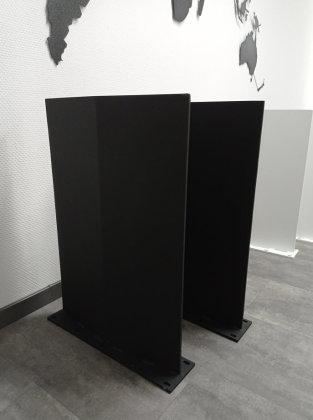 Stahlwange SWR48 Raute Stahl schwarz matt Struktur Tischgestell Esstisch Schreibtisch Wangen massiv Tischkufen Industrie (1 Stück)