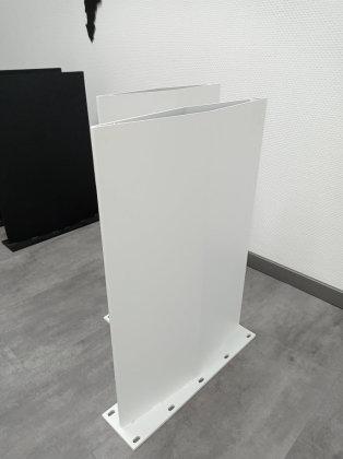 Stahlwange SWR48 Raute Stahl weiß matt Struktur Tischgestell Esstisch Schreibtisch Wangen massiv Tischkufen Industrie (1 Stück)