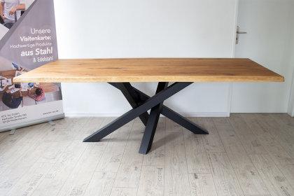 Kreuzgestell Stahl schwarz matt MI-KADO 80x80 L1400 Tischgestell Küchentisch Esstisch Tischuntergestell X-Gestell