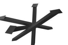 Kreuzgestell Stahl schwarz matt Struktur MI-KADO 80x80 Tischgestell Küchentisch Esstisch Tischuntergestell X-Gestell einteilig