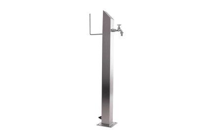Wassersäule SQS 1030 mm Edelstahl MIT Schlauchhalterung Gartenschlauch Zapfsäulen Schlauchhalter
