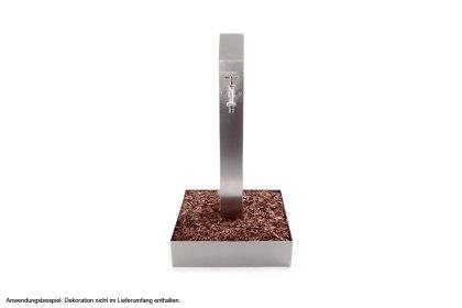 Beetumrandung Edelstahl quadratisch eckig 30cm 300mm Beeteinfassung Rasenkante Garten Mähkante Einfassung Rostfrei