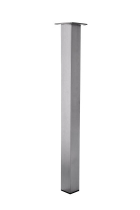 Tischbein Edelstahl TB2 Quadratrohr 60x60mm Tischgestell Tischfuß Tischkufen Wohnzimmertisch Esstisch Esszimmertisch 6x6cm