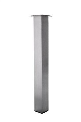 Tischbein Edelstahl TB3 Quadratrohr 80x80mm