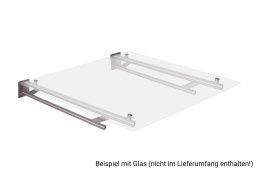 Vordachhalter Edelstahl VR600 (1 Paar) Rundrohr Vordachsystem Vordach Vordachträger Edelstahlvordach Glasvordach Türvordach Haustür Halter