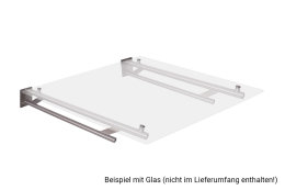 Vordachhalter Edelstahl VR800 (1 Paar) Rundrohr...