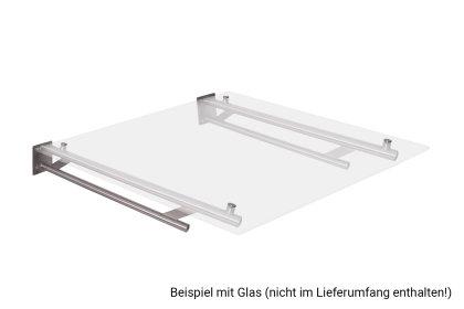 Vordachhalter Edelstahl VR900 (1 Paar) Rundrohr Vordachsystem Vordach Vordachträger Edelstahlvordach Glasvordach Türvordach Haustür Halter