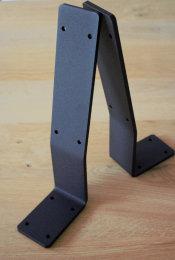 Rückenlehnenwinkel Stahl schwarz matt sms...