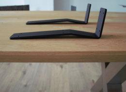 Rückenlehnenwinkel Stahl schwarz matt sms Rückenlehnenhalter Sitzbank Rückenlehne Bank Bett (1 Stück)
