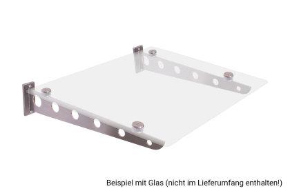 Vordachhalter Edelstahl VF-650 (1 Paar) Flach Vordachsystem Vordach Vordachträger Edelstahlvordach Glasvordach Türvordach Haustür Halter