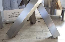 Tischgestell Edelstahl V2A Tres 80x80 L600 für...