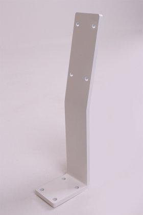 Rückenlehnenwinkel Stahl weiß matt wms Rückenlehnenhalter Sitzbank Rückenlehne Bank Bankkufen Bett Rückenlehnenhalterung (1 Stück)