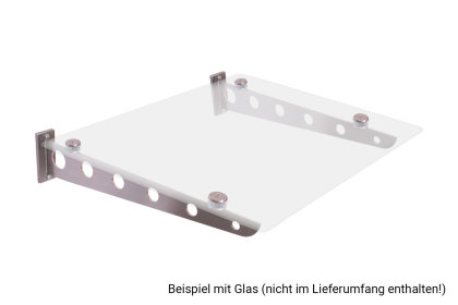 Vordachhalter Edelstahl VF-1050 (1 Paar) Flach Vordachsystem Vordach Vordachträger Edelstahlvordach Glasvordach Türvordach Haustür Halter