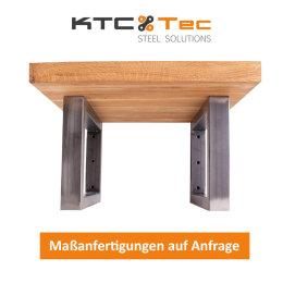 Waschbecken Konsole Rohstahl Träger TRG50x30-210/380 Waschtisch Wandkonsole Industriedesign Vintage Stahl schwarz Regalhalter Konsolenhalterung Gestell (1 Paar)