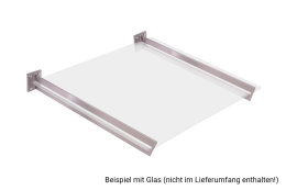 Vordachhalter Edelstahl VL-750 (1 Paar) Schlitz Vordachsystem Vordach Vordachträger Edelstahlvordach Glasvordach Türvordach Haustür Halter