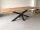 Kreuzgestell Stahl schwarz matt GX80x80 L1700 Tischgestell Küchentisch Esstisch Tischuntergestell X-Gestell