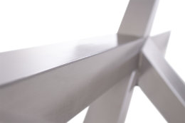 Kreuzgestell Edelstahl V2A GX80x80 L1700 Tischgestell Küchentisch Esstisch Tischuntergestell X-Gestell