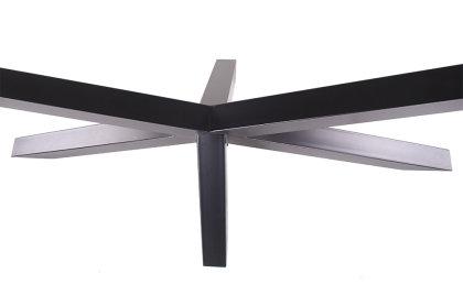 Kreuzgestell schwarz matt GX80x80 Tischgestell Küchentisch Esstisch Tischuntergestell X Gestell einteilig