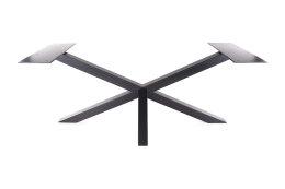 Kreuzgestell Stahl schwarz matt GX80x80 L1850 Tischgestell Küchentisch Esstisch Tischuntergestell X-Gestell