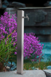 Wassersäule SQG 950 mm Edelstahl MIT Schlauchhalterung Gartenschlauch Zapfsäulen Schlauchhalter