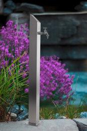 Wassersäule SQS 730 mm Edelstahl MIT Schlauchhalterung Gartenschlauch Zapfsäulen Schlauchhalter