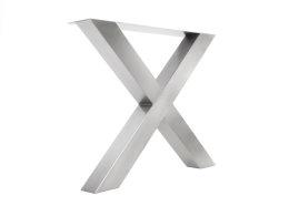 Tischgestell Edelstahl TUX 100x100 890 Kufen Tischuntergestell 900, 2 Stk