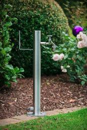 Wassersäule SRG 650 mm Edelstahl MIT Schlauchhalterung Gartenschlauch Zapfsäulen Schlauchhalter