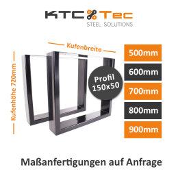 AKTION! Tischgestell Stahl TUGs-150x50 schwarz...
